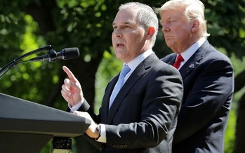 When he was Oklahoma's Attorney General, Scott Pruitt filed a dozen or more lawsuits to overturn  regulations at the agency he now leads, the EPA. (Somodvilla/GettyImages)