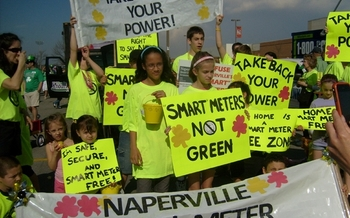 "Naperville IL families march in support of ""Opt-Out"""