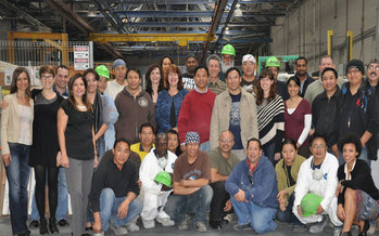 Photo: IceStone employees are part owners in their company. Courtesy: IceStone