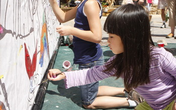 Photo: Kids participate in art projects at Copper Country. Courtesy: Copper Mountain, Kimberly Trembearth